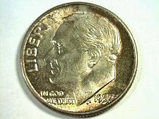 Buy 1957 ROOSEVELT DIME GEM UNCIRCULATED GEM UNC. SUPER IRRADIATE COLORED COIN