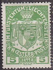 Buy LIECHTENSTEIN [1917] MiNr 0005 ( */mh )
