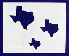"""Buy State of Texas 8x10 Stencil (2"""", 3"""", 4"""") 14 Mil Mylar - Painting/Crafts/ Templat"""