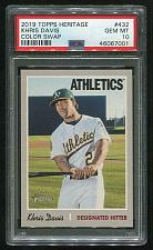 Buy 2019 TOPPS HERITAGE COLOR SWAP KHRIS DAVIS #432 PSA 10 GEM MINT (46067001)