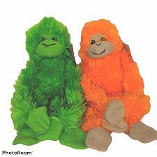 "Buy NWT Goffa International Green Orange Monkey Plush Stuffed Animal Lot of 2 11"""