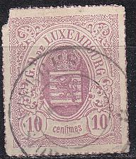 Buy LUXEMBURG LUXEMBOURG [1865] MiNr 0017 a ( O/used ) [01]