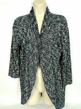 Buy Dressbarn Women's Shrug Sweater Size Medium Black White Geometric V Neck