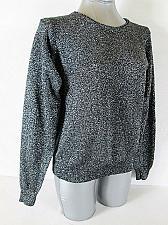 Buy JEANNE PIERRE womens Medium L/S black SILVER METALLIC sweater (M)P