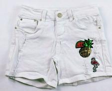 Buy Indigo Rein Junior's Forever Booty Jean Shorts Size 1 White Distressed Sequin