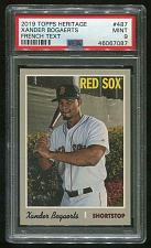 Buy 2019 TOPPS HERITAGE FRENCH TEXT XANDER BOGAERTS #487 PSA 9 MINT (46067087)