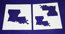 """Buy State of Louisiana 2 pc Stencil Set-Mylar 14 Mil 4"""",5', 6"""" - Painting /Crafts/ T"""