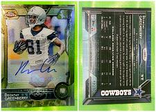 Buy NFL Deontay Greenberry Cowboys autographed 2015 Topps Chrome Camo RC SP 44/75