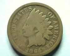 Buy 1864 BRONZE INDIAN CENT PENNY GOOD+ G+ NICE ORIGINAL COIN BOBS COINS FAST SHIP