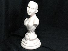 Buy Vintage Porcelain Bisque Doll Figurine Statue Woman 10 inch New Old Stock NOS