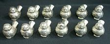 Buy LOT of 12 Silver Metal Bird Salt and Pepper Shakers Vintage for Wedding or Party