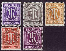 Buy GERMANY Alliiert AmBri [1945] MiNr 0010 ex ( O/used ) [01]