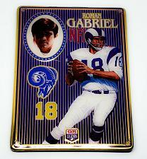 Buy NFL 1993 Metallic Images Quarterback Collection Metal Card #6 ROMAN GABRIEL RAMS