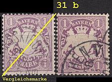 Buy GERMANY Bayern Bavaria [1874] MiNr 0031 b ( O/used ) [01]