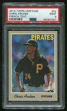 Buy 2019 TOPPS HERITAGE FRENCH TEXT CHRIS ARCHER #52 PSA 9 MINT (46067007) POP 1