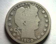 Buy 1900-S BARBER QUARTER DOLLAR GOOD G NICE ORIGINAL COIN FROM BOBS COINS FAST SHIP