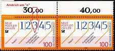 Buy GERMANY BUND [1993] MiNr 1659 F3 2er ( **/mnh ) [01] Plattenfehler