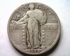 Buy 1928-S STANDING LIBERTY QUARTER FINE+ F+ NICE ORIGINAL COIN BOBS COINS FAST SHIP