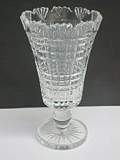 Buy Waterford CUT GLASS signed vase footed old cut in Ireland,