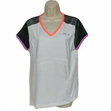 Buy Fila Sport Live In Motion Womens Athletic Top Large White Black Zip Pocket