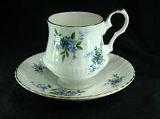 Buy Royal Windsor Pedestal Tea Cup And Saucer Blue Purple Forget Me Nots Numbered