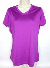 Buy Fila Women's Athletic Workout T-Shirt Medium Solid Purple Athletic V Neck