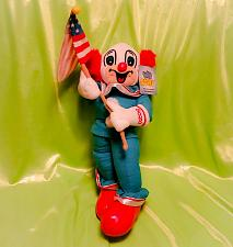 """Buy OFFICIALLY LICENSED VINTAGE 1999 BOZO THE CLOWN 12"""" PATRIOTIC COLLECTIBLE PLUSH"""