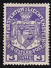 Buy LIECHTENSTEIN [1917] MiNr 0004 ( **/mnh )