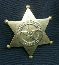 Buy Vintage Chief Brothel Inspector Badge Brass Star Shaped 69 Old West Style
