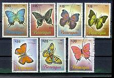 Buy NICARAGUA [1966] MiNr 2717-23 ( O/used ) Schmetterlinge