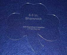 "Buy Shamrock 6 1/2"" Height & Width - Clear 1/8"" Thick Acrylic"