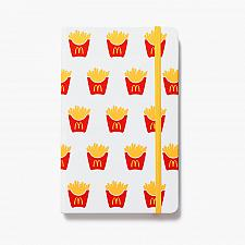 Buy New McDonald World Famous Fries Journal Writing Hardcover Soft Touch Free Ship