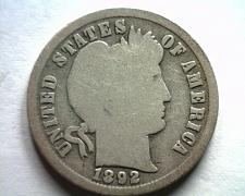 Buy 1892 DATE REPUNCHED SOUTH NOT NO.103 BARBER DIME GOOD G NICE ORIGINAL COIN