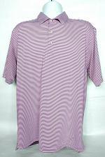 Buy Turtleson Tour Performance Golf Polo Large Greenbriar Hills CC Striped Purple