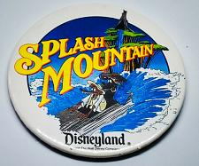 Buy VINTAGE OFFICIAL DISNEYLAND SPLASH MOUNTAIN 4-INCH COLLECTIBLE PINBACK BUTTON