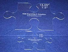 """Buy 2 Piece Small & Large Puzzle Template Set - Clear 1/8"""""""