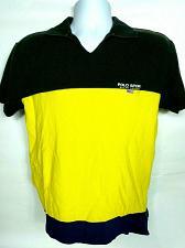 Buy Vtg 90s Ralph Lauren Polo Sport Mens V Neck Shirt Small Black Yellow Colorblock