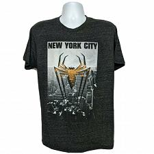 Buy Spiderman Logo NYC Skyscrapers Marvel Graphic T-Shirt Size Large Short Sleeve