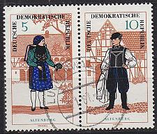 Buy GERMANY DDR [1966] MiNr 1214 WZd162 ( OO/used ) Trachten