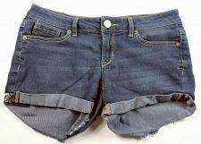 Buy Aeropostale Women's Midi Booty Shorts Size 2 Solid Blue