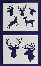 """Buy Deer- 2 Pieces-Stencil -Mylar 14 Mil 17.5"""" H X 14"""" W - Painting/Crafts/Template"""