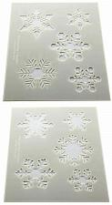 """Buy Snowflake Stencils -Mylar 2 Pieces of 14 Mil 8"""" X 10"""" - Painting /Crafts/ Templa"""