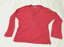 Buy Tommy Hilfiger Women's Size L Pink Tunic Top Embroidered Sequins Long sleeve