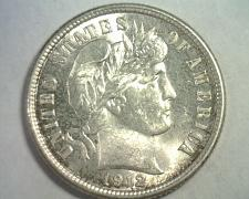 Buy 1912 BARBER DIME UNCIRCULATED UNC. NICE ORIGINAL COIN BOBS COINS FAST SHIPMENT