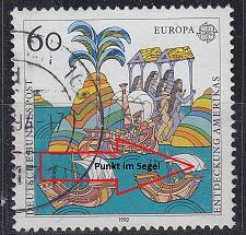 Buy GERMANY BUND [1992] MiNr 1608 F5 ( O/used ) [01] CEPT Plattenfehler