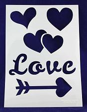"""Buy 13"""" x 18"""" Stencil Valentines/Love/Heart-Mylar 1 Piece"""