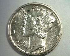 Buy 1937-D MERCURY DIME ABOUT UNCIRCULATED+ AU+ NICE ORIGINAL BOBS COIN FAST SHIP