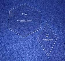 "Buy Hexagon/Diamond Set - 2 Piece Specialty- -1/8""-Quilt Templates-"