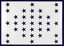 """Buy 33 Star Field """"Fort Sumter"""" Stencil 14 Mil -US G Spec 10.5 x 14.82"""" Long Star Fi"""