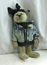"Buy 1980's Roxy Brass Button 12"" Bear by Pickford Bears - Leather & Lace & Denim"